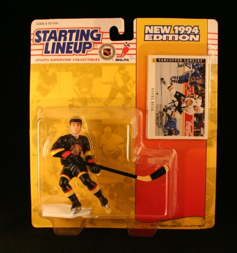 PAVEL BURE / VANCOUVER CANUCKS 1994 NHL Starting Lineup Action Figure & Exclusive SCORE Collector Trading Card