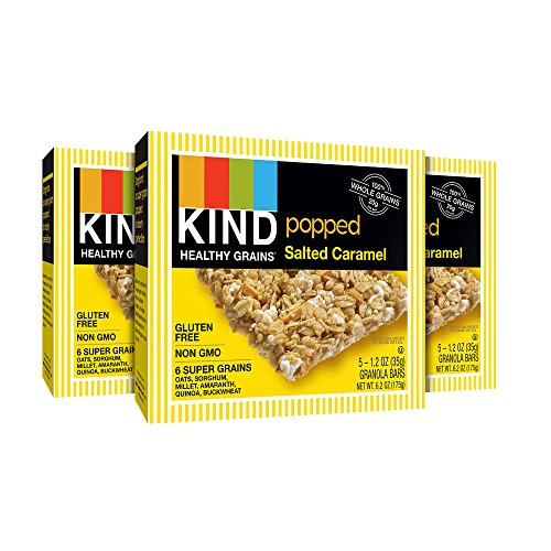 KIND Healthy Grains Granola Bars, Popped Salted Caramel, Gluten Free, 1.2oz Bars, 15 Count (Popcorn Snack Caramel compare prices)