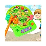 Baby Interesting Mole Attack Whac-A-Mole Attack Games Toys Electronic Hand Operation Game Machine Kids Games Hit Pop-up Hamster Toy Lambaste the Hamsters with Music - Green by Camac [並行輸入品]