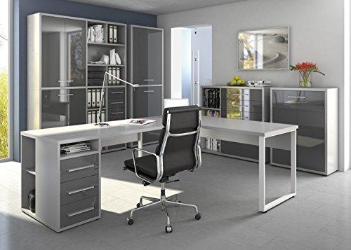 Komplettes-Arbeitszimmer-Brombel-Komplett-Set-Modell-2016-MAJA-SET-in-Platingrau-Grauglas-SET-8