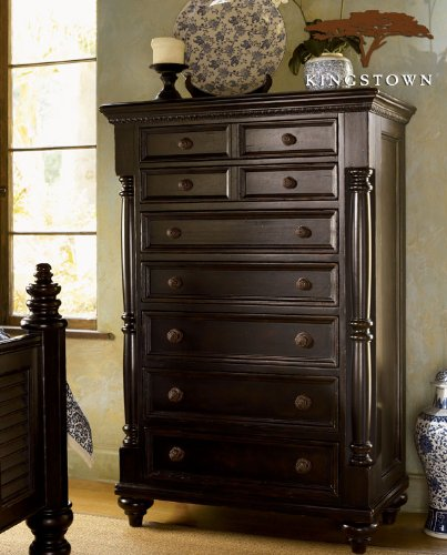 Tommy Bahama Home Kingstown Stony Point 7 Drawer Chest In Tamarind Finish front-930708