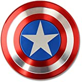 Captain America Shield Marvel Fidget Spinner Toy Stainless Steel Bearing High Speed 3-5 Min Spins Precision Metal Hand Spinner Fidget Toy Hand Spinner Rotation Time Long For Autism And ADHD Kids/Adult Anti Stress