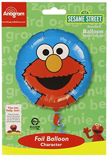 Amscan - Palloncino a elio Sesame Street Elmo (Amscan Internazionale 7.010.201)