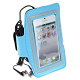 SumacLife SPORTY Armband with Key Holder for iPhone 5 / iphone 5S / iPhone 5C (AT&TT-mobileVerizonSprint) / iPod Touch 5 (Blue)