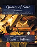 Quotes of Note Second Edition: More B...