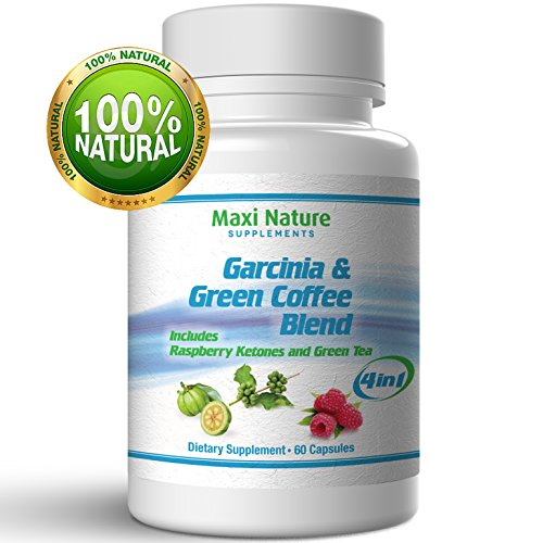 Premium Pure Garcinia Cambogia With Green Coffee Beans Extract , Raspberry Ketone Complex And Green Tea - All In 1 Potent Formula Slim Fast - Reduces Calorie Absorption And Melting Belly Fat - Fat Burner Dr.Oz Recommended Best Sellers - Weight Loss Appeti