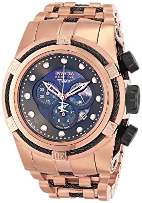 Invicta Men's 12744 Bolt Analog Display Swiss Quartz Rose Gold Watch