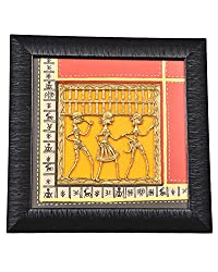VarEesha Wall Hanging With Dhokra And Warli Metal Work - For Office / Home Decor/ Gift Items/ Wall Hangings/ Wall Decals/ Paintings