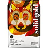 Solid Gold Wolf King Holistic Dry Dog Food, Bison, Brown Rice & Sweet Potatoes, Moderately Active Adult Dogs, Medium & Large, 28lb Bag