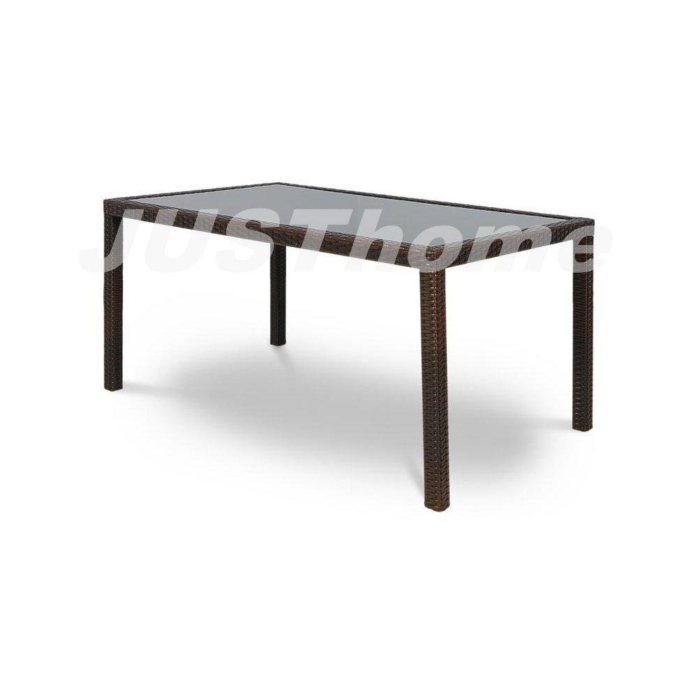 JUSThome Gartentisch Glastisch Torino (HxBxL): 70x90x150 cm Braun
