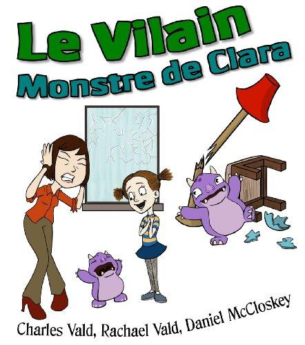 Couverture du livre Le Vilain Monstre de Clara - Livre Illustré pour Enfants