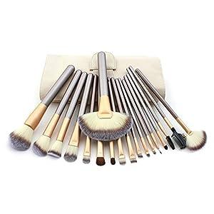 CINEEN 18PCS Makeup Cosmetic Brush Tool with Eyeliner Eye Shadow Brow Lip Brush Beauty Tool for women