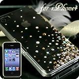 iPhone4用 豪華スワロフスキーiPhone4ケース(Aタイプ・スプリンクル・ブラウン)