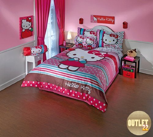 Hello Kitty Twin Bedding Set front-1078443