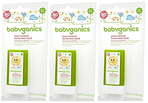 Babyganics Sunscreen Stick SPF 50, 0.47 Ounce, 3 Pack - 1