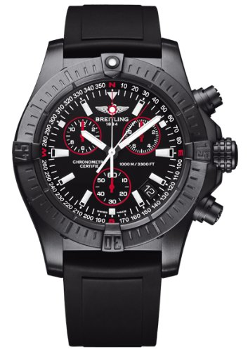 NEW BREITLING AEROMARINE AVENGER SEAWOLF CHRONO BLACKSTEEL MENS WATCH M7339010/BA03