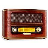 Auna Belle Epoque stereo radio vintage (Tuner FM, costruzione in legno, antenna) thumbnail