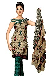 Riddhi Dresses Women's Cotton Unstitched Dress Material (Riddhi Dresses 111_Multi Coloured_Free Size)