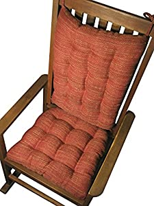 Rocking Chair Cushions - Brisbane Apple Red - Extra-Large Seat Cushion ...