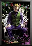 Batman – Poster – Dark Knight – Joker Jail + Wechselrahmen der Marke Shinsuke® Maxi aus edlem Aluminium (ALU) Profil: 30mm schwarz
