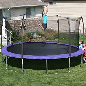 17' x15' Oval Trampoline and Enclosure Pad Color: Purple