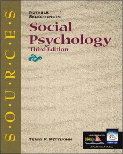 Notable Selections in Social Psychology (Sources (McGraw-Hill/Dushkin))