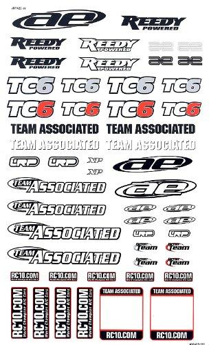 Team Associated 31299 TC6 Decal Sheet - 1
