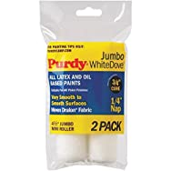 Jumbo White Dove Mini Woven Fabric Roller Cover-2PK 4.5X1/4