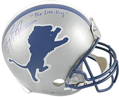 Barry Sanders Detroit Lions Autographed Pro-Line Riddell Authentic Helmet with The Lion King Inscription - Fanatics Authentic Certified