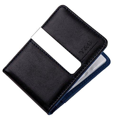 YCC1006 Buono Regalo regalo blu nero Migliore Leather Wallet clip dei soldi 15 del supporto di carta Padre Giorni regali di modo da Y&G