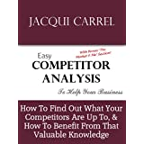 Easy Competitor Analysis - How to Find What Your Competitors Are Up To, & How to Benefit From That Valuable Knowledge (Business Building)by Jacqui Carrel