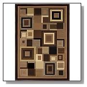 Contemporay Black/Brown Area Rug