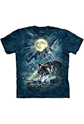 The Mountain Men's Wolf Night Symphony T-shirt