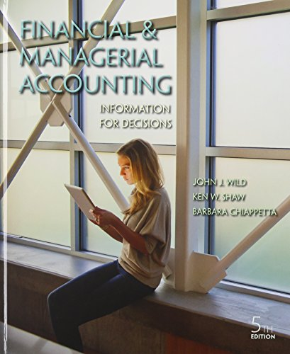 Financial and Managerial Accounting: Information for Decisions image