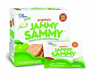 Plum Kids Organic Jammy Sammy, Apple Cinnamon and Oatmeal, 5.15 Ounce (Pack of 6)
