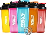 ProElite Neon Smart Blender Bottle Shaker Cup Shake 600ml - 700ml (Transparent Yellow)
