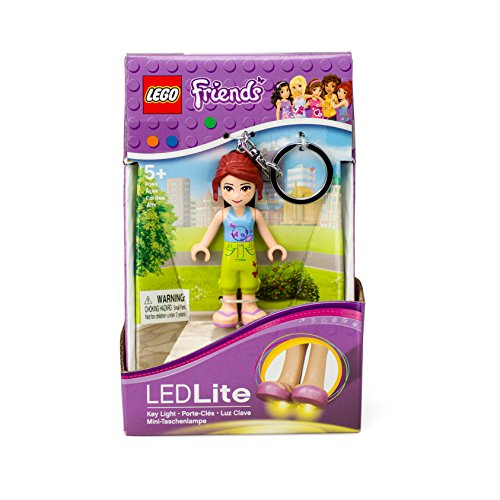 LEGO Friends Mia Keychain Light - 2.75 Inch Perfect for Backpacks, Keychains - Moving Parts, Long Lasting LED's - 1