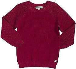 Appaman Girls' Split Sweater (Toddler/Kid)-Goji Berry - Goji Berry - 5