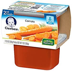 Gerber 2nd Foods Vegetables - Carrots - 3.5 oz - 16 pk