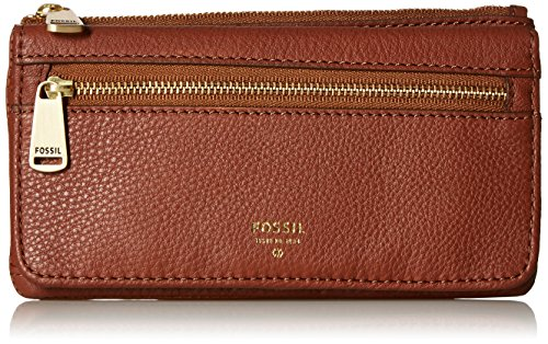 Preston Rfid Flap Wallet - Brown Wallet, One Size (Fossil Preston Leather Flap compare prices)