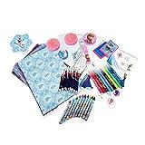 La Reine des Neiges - Cfro002 - Kit De Loisirs Créatifs - Coffret - Flocon De 75 Pièces - Bleu