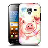 Head Case Pig Watercoloured Animals Back Case For Samsung Galaxy Ace 2 I8160