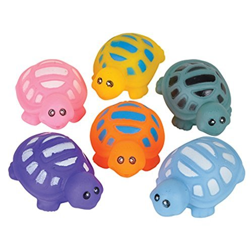 Turtle Water Squirt Bath Tub Toys - 12 Pack