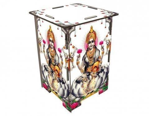 homelife24 - Taburete, diseño de dios indio, color blanco