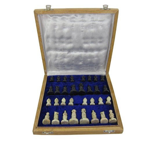 Unique Stone Chess Sets and Board with Storage Box 12 Inches X 12 Inches 3