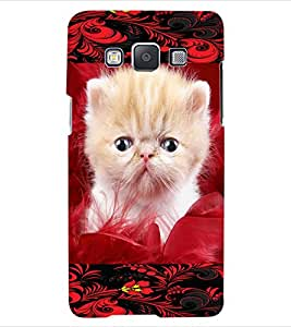 ColourCraft Cute Kitty Design Back Case Cover for SAMSUNG GALAXY E5
