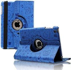 KolorFish iFun Cartoon Print Funky Designer Rotation Flip Book Case Cover Stand Leather For Apple iPad Air