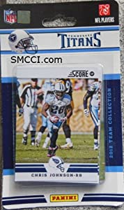 2012 Score Tennessee Titans Factory Sealed 12 Card Team Set by Tennessee Titans Team Set