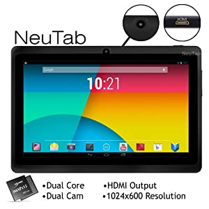 NeuTab® N7 7'' Dual Core Google Android 4.3 Jelly Bean Tablet PC, 1024X600 HD, HDMI, Dual Camera, Google Play Pre-loaded, 3D-Game Supported