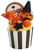 季節商品雑貨飾り付けお部屋のデコレーションにパンプキンハロウィンカップケーキイエロー1594J